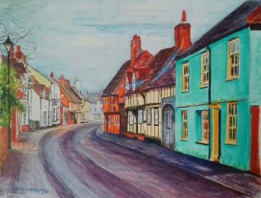 Village of Titchfield painting