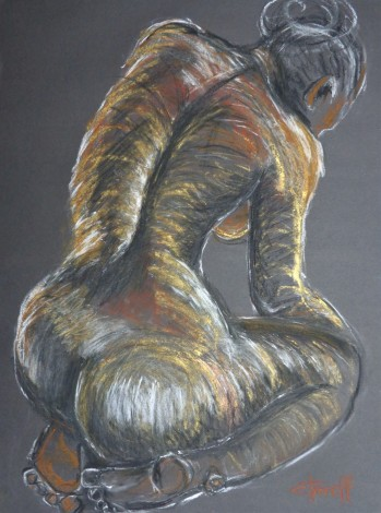 back and buttocks female nude