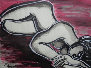 female nude lying face down