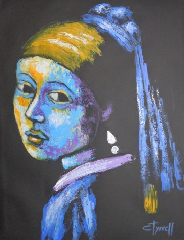 Girl With A Pearl Earring And Yellow Scarf