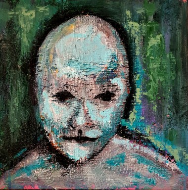 Abstract green figurative