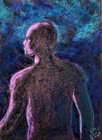 male silhouette moonlight