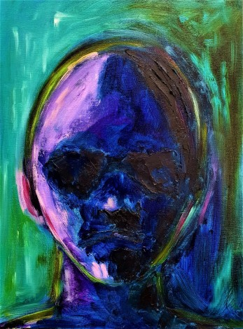 colourful abstract portrait