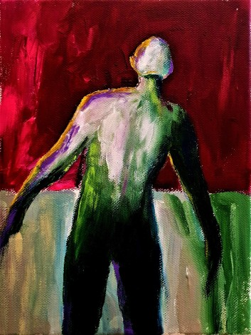 contrasting abstract male figure