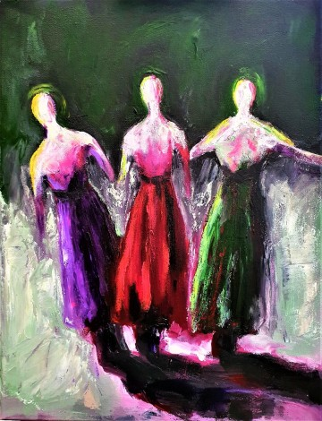 colourful abstract female figures