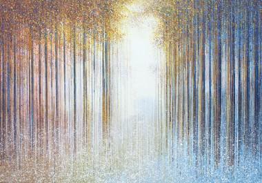 Mist Rising In  Autumn Forest