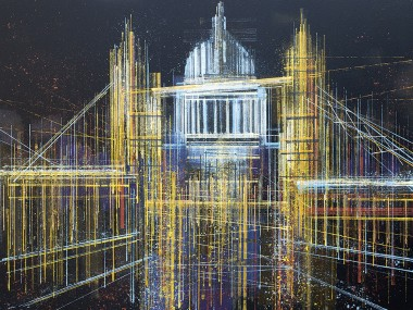 London - Tower Bridge And St Paul's Composition 1