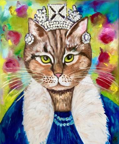Cat Inspired by Portrait of Queen Elizabeth II