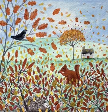 Breezy autumn day
