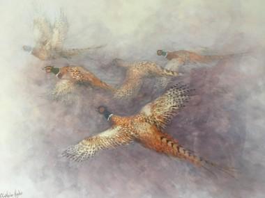 Royal Worcester Artist pheasant painting