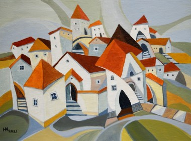 The Old Town - 30x40 cm oil on canvas