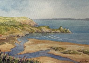 Three Cliffs . The Gower