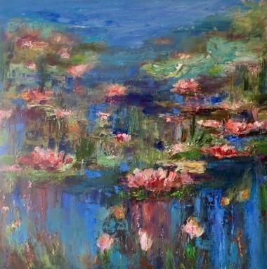 Reflections  Lily pad Pond Lake