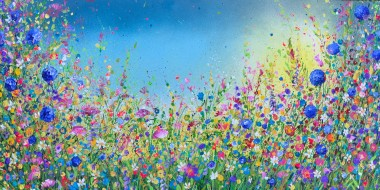 Wild Wild Meadow with Blue Alium
