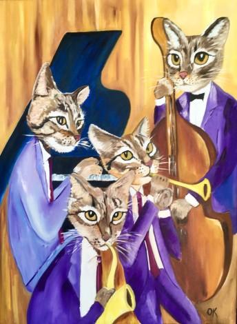 Quartet, feline, cats