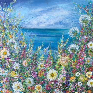 Colourful Meadow with Seaview