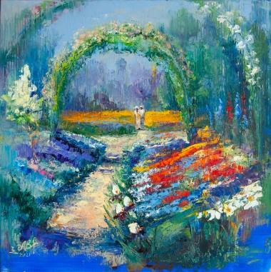 garden, roses, british, district, national, trust, arch, park, trees, holiday, lockdown, summer, seasons