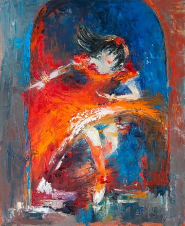 dancer, ballerina, red, ballet, theatre, performance, woman, dancing