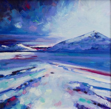 blue absract landscape