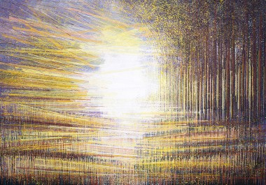 Autumn Trees At Sunset Composition #4