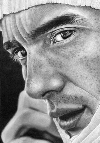 Ayrton Senna in Pencil