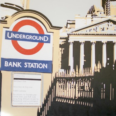Bank Station Entrance to the underground tube at Bank station, London