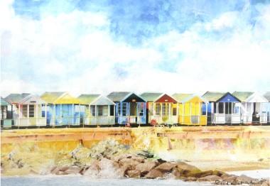 Southwold Beach Huts (Unframed)