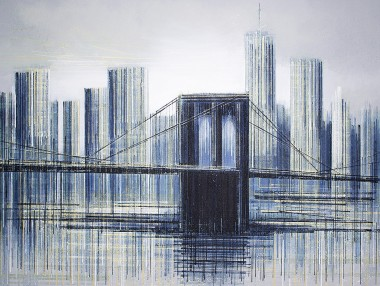 New York City - The Brooklyn Bridge At Twilight