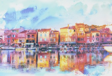 Afternoon in Cassis Unframed