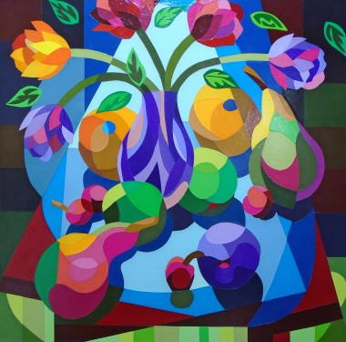 Still Life With Four Cherries