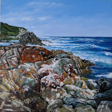Coastal painting - front view