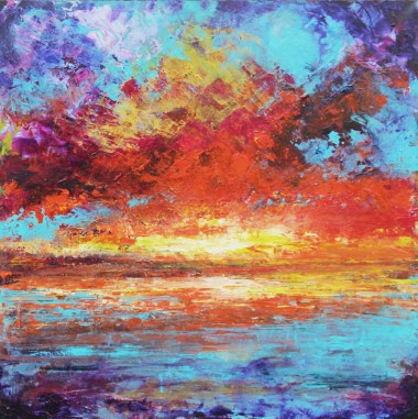 Original abstract seascape art for sale
