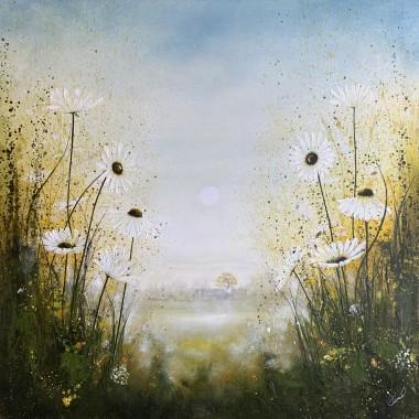 daisy landscape painting