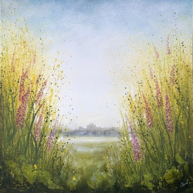 Yellow Green Landscape painting