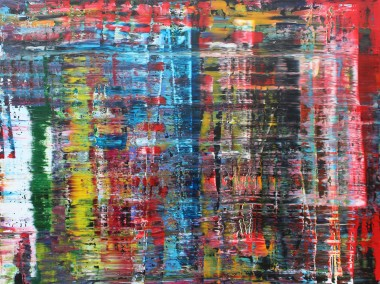 Huge abstract multi drag style painting