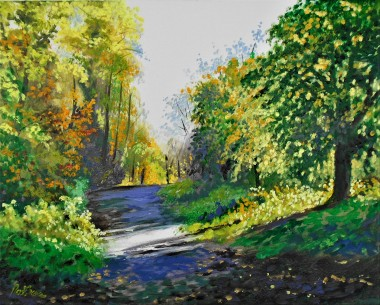 autumn, sunlight and shadow, trees, woodland, walks, affordable oil paintings