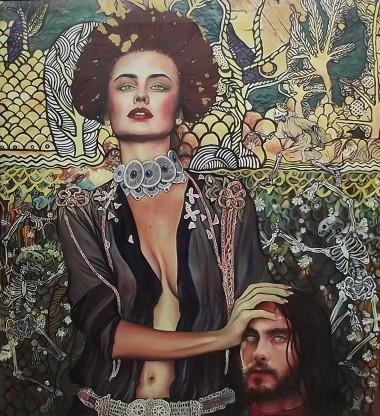 Judith Lost Innocence, oil on canvas painting