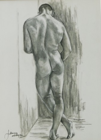 #nude #male #figure #erotic #drawing #study