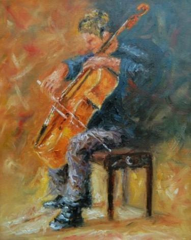 The Cellist,(commission)