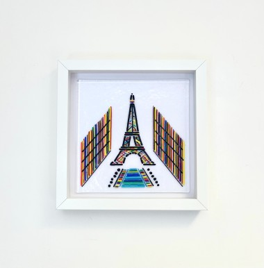 Eiffel Tower Glass Artwork