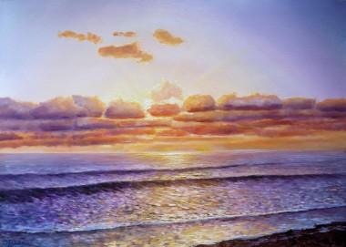 seascape evening tide