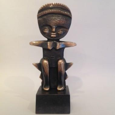 African Fertility doll in bronze