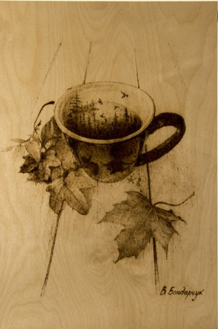 autumn cup of coffee leaves romance sadness fairy tale
