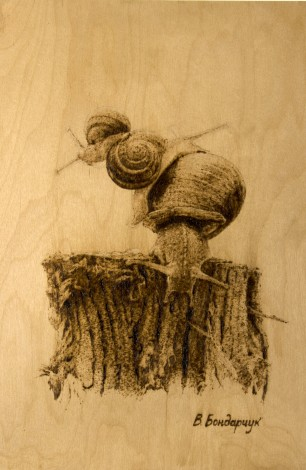 snails family nature mood tree