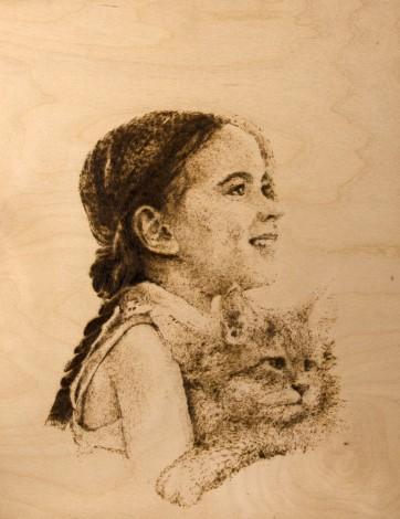 children girl kittens childhood summer mood