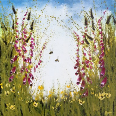 bee landscape painting