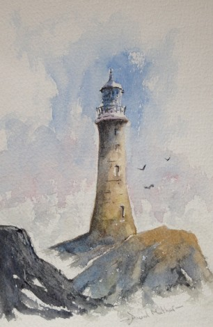 Smeaton lighthouse watercolour by David Mather