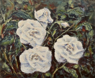 White Roses oil painting by David Mather
