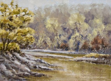 Near Lopwell Dam oil painting by David Mather