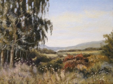 From the Garden House oil painting by David Mather